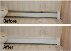 Bye To Rusty Yucky Heat Covers In The Bathroom Baseboard