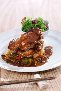 Recept voor kip in zwarte bonen knoflooksaus