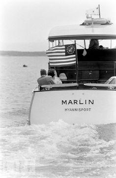 John and Jackie Kennedy, Massachusetts, 1960.