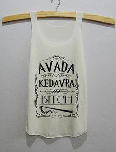 Avada Kedavra Bitch Magic Spell Harry Potter Tee Tank Top Women
