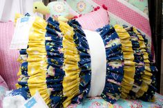 Floriography Ruffle Pillow Tutorial