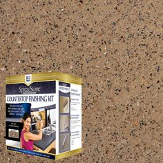 DAICH SpreadStone Mineral Select Sundance Countertop Refinishing Kit adds an elegant new surface to your existing laminate kitchen and bath countertops. Bathtub Refinishing Kit, Countertop Refinishing Kit, Countertop Paint Kit, Painting Countertops, Laminate Countertops, Countertop Materials, Kitchen Countertops, Countertop Makeover, Kitchen Cabinets