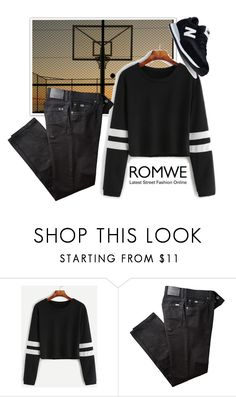 """Romwe style"" by mana-man ❤ liked on Polyvore featuring BRAX and New Balance"