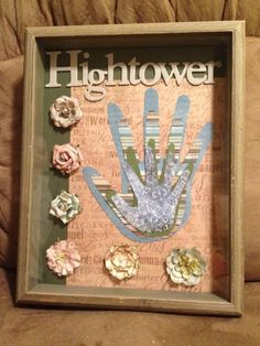 Family Hand print Shadow Box