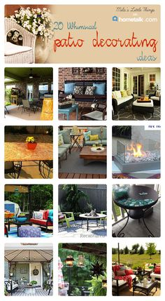 Just in time for summer! Discover some great patio decorating ideas!