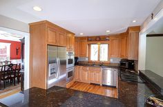 Terrific kitchen with granite countertops and open floor plan in our listing at #48HighValley!