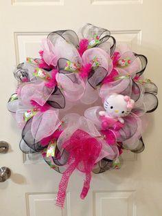 Hello Kitty Wreath By RCD Creations