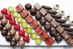 Handmade bonbons at the Hungaricum Dessert Shop.