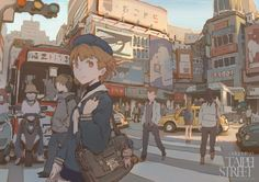 Kai Fine Art is an art website, shows painting and illustration works all over the world. Art Anime, Anime Kunst, Anime Manga, Art And Illustration, Character Illustration, Art Environnemental, Character Art, Character Design, Anime Scenery