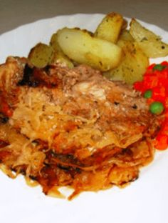 Lasagna, Pork, Food And Drink, Meat, Chicken, Ethnic Recipes, Casserole, Red Peppers, Kale Stir Fry