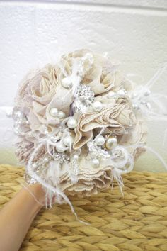 Thinking I may do a lace bouquet like this instead of a floral bouquet.