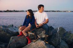 Larkin + Matt – Atlantic Beach Engagement Photographer » Emily E Martin Photography