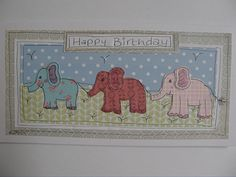 Elephant  birthday card, quirky, paper collage, handmade, unique keepsake, countryside, birthday greeetings card tall card and envelope by Littlepapertreesuk on Etsy