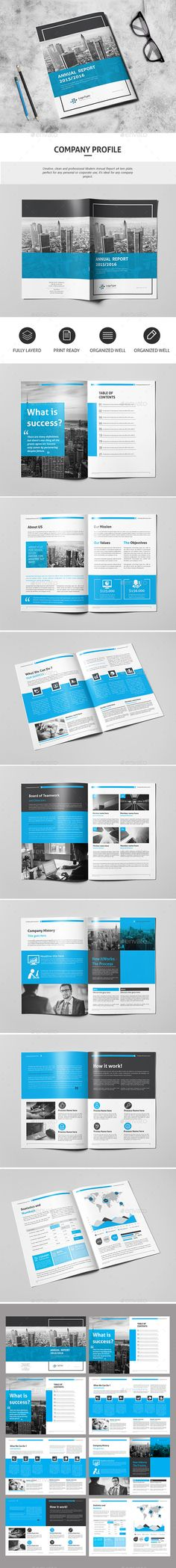 Clean Company Profile - Corporate Brochures Clean Pinterest - corporate profile template