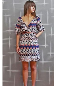 Short sleeve Dress with deep V neck Short Sleeve Dresses, Dresses With Sleeves, Fashion Online, Doll, V Neck, Street Style, Summer Dresses, Sleeve Dresses, Urban Style