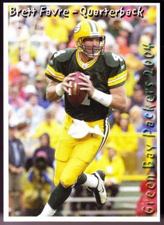 GREEN BAY PACKERS 2004 BRETT FAVRE NAVIGATOR PLANNING POLICE CARD NMMT FREE SHIP #GreenBayPackers