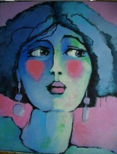 woman's look 3 – Painting, cm © 2009 by Odile Chodkiewicz – Contemporary painting, woman portrait Source by chloejoly Abstract Portrait, Portrait Art, Illustration Art, Illustrations, Painting People, Art Original, Face Art, Figurative Art, Painting Inspiration