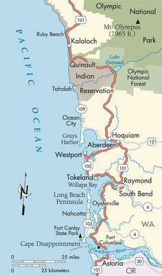 WASHINGTON COAST | Pacific Coast Route Detail: Kalaloch to Astoria, Oregon