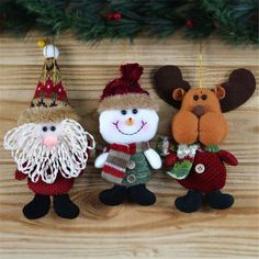 Fashion Style Christmas Decor Xmas Santa Snowman Tree Ornaments Hanging Pendant Gifts Ornament #10 2016 -in Pendant & Drop Ornaments from Home & Garden on Aliexpress.com | Alibaba Group