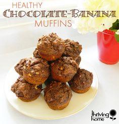 Healthy Breakfast Recipe: Chocolate Banana Muffins