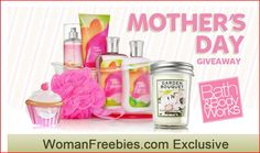 Win a Bath and Body Works prize pack in our EXCLUSIVE Mother's Day Giveaway ----> https://www.facebook.com/WomanFreebies/app_564296840270939