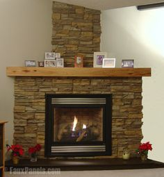 Corner Fireplace Ideas In Stone simple design stone tile corner fireplace with inserts, like flat