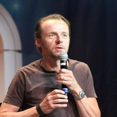 """All of us in the cast didn't want to do imitations. We wanted to play the characters & not play them playing them."" Simon Pegg #stlv #startrek"