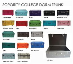College Item - The Sorority College Dorm Trunk - Aqua - Dorm Storage