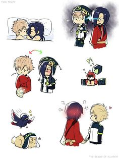 Koujaku x Noiz  Don't ship them but somehow this is quite cute ><