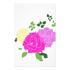 Roses flowers stationery - elegant wedding gifts diy accessories ideas