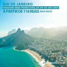 Voos promocionais para o Rio de Janeiro em até 10x sem juros.    Saiba mais:  https://www.passagemaerea.com.br/promocoes-rio-de-janeiro.html   #riodejaneiro #rj #errejota #passagemaerea #viagem #ferias