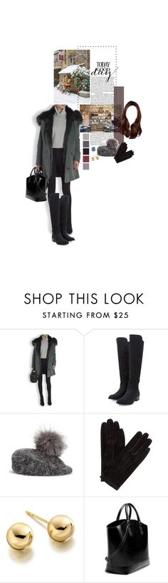 """""""Untitled #2420"""" by duchessq ❤ liked on Polyvore featuring Yves Salomon, John Lewis, Astley Clarke and Zara"""