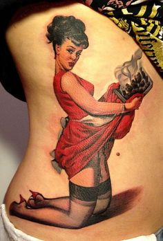 Chef Vintage Pin Up Tattoo. Ooooh. I love this. I don't think I have the balls to do it, but I love it.