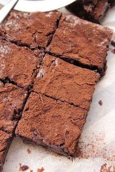 Chestnut flour chocolate  brownies