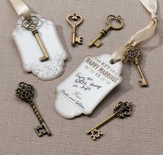 Set of 24 Bronze Key Tags