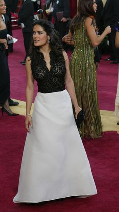 Selma Hayek wearing Carolina Herrera, circa 2003. LOVE this dress!!!