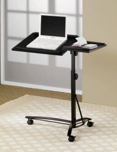 Laptop Computer Stand With Adjule Height In Black Finish Furniture