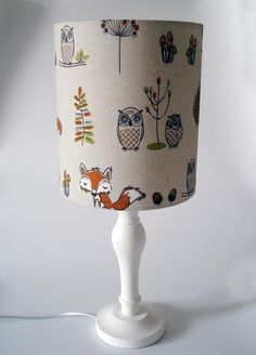 Woodland Creatures lampshade for ceiling or bedside lights