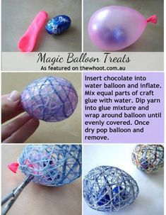 Magic Balloon Treats Easter Craft Ideas Easy Crafts Diy For Kids