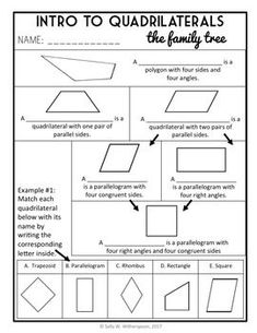 by The Number Diva Geometry Lessons, Teaching Geometry, Teaching Math, Math Literacy, Creative Teaching, Math Practice Worksheets, Geometry Worksheets, Classroom Tools, Teacher Tools