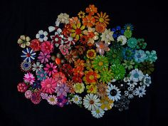 Enamel Flower pins, brooches 60s Flower Power  by chrispyworld, via Flickr