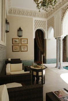 Exotic Design of Riads in old town of Marrakesh – designmixer Islamic Architecture, Interior Architecture, Interior And Exterior, Interior Design, Dream Home Design, House Design, Design Marocain, Morrocan Decor, Arabic Decor