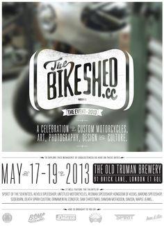 BikeShed CC Custom bike event - sounds cool. May 17-19 @ Truman Brewery, Brick Lane, London E1