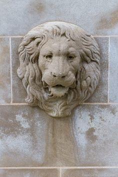 Sculpture Of Lions Head On Dallas Estate Home