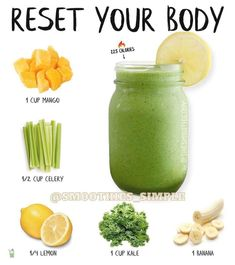 """🍏🍒🍋Best Smoothie Weightloss🍌🍉🥝 on Instagram: """"Do you feel like your body needs a #detox? 🌿  Give this Mango-Lemon smoothie a try. Packed with vitamins, antioxidants and fiber this…"""" Diet Drinks, Smoothie Drinks, Smoothie Diet, Smoothie Recipes, Juice Recipes, Keto Recipes, Beverages, Healthy Recipes, Healthy Juices"""