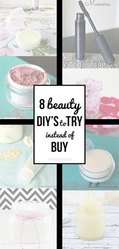 DIY Beauty to Try Instead of Buy. This list is probably the most handy thing ever!!!