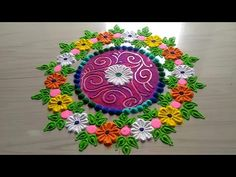 Beautiful & AWESOME super creative rangoli for all FESTIVAL'S/easy & simple rangoli design by jyoti - YouTube