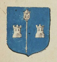 Le Prieuré de Treves, ordre de Saint Benoist. Porte : d'azur, à un baton prieural d'argent accosté de deux tours de même | N° 84