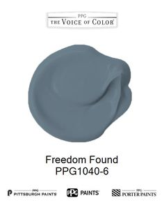 Freedom Found is a part of the Blues collection by PPG Voice of Color®. Browse this paint color and more collections for more paint color inspiration. Get this paint color tinted in PPG PITTSBURGH PAINTS®, PPG PORTER PAINTS® & or PPG PAINTS™ products.
