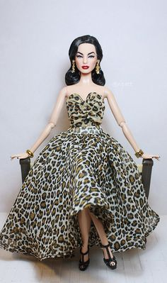 """50th Girl.  """"Great way to use the Hollywood Barbie swimsuit as a 'top', then put a full skirt underneath."""" -CMont"""